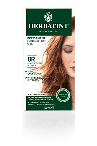 Tinta per capelli colorazione permanente senza ammoniaca naturale herbatint 135 ml n. 8 r colore biondo chiaro ramato