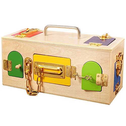 Jouets éducatifs pour enfants Jouets éducatifs Jardin d'enfants / serrure Débloquez des cas spéciaux de zone de vie quotidienne de Portable Treasure Box du SIDA Jouets éducatifs pour tout-petits d'âge