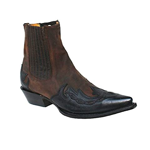 Mezcalero Ankle Western Boots Cabra Mad Dog, Color:nubuk brown;Größe:41