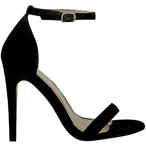Shoesdays , Sandales pour femme noir noir 35.5 Daim noir