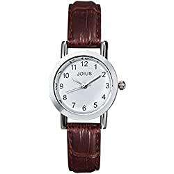 Student casual leather strap watch/Fashion quartz watch/Simple casual watches-C