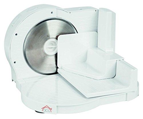 Dcg eltronic as2455 elettrico 150w plastica bianco affettatrice