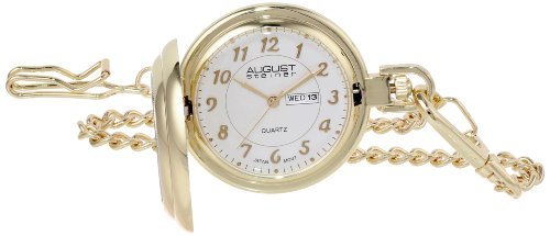 august-steiner-mens-quartz-watch-with-silver-dial-analogue-display-and-gold-alloy-bracelet-as8019