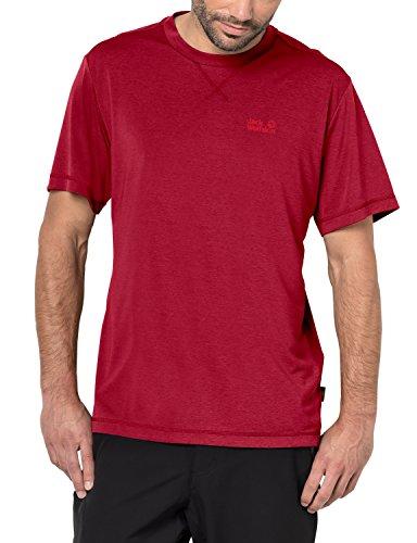 Jack Wolfskin Herren Crosstrail T Quick Drying & Odor Inhibiting, Herren, Rot - Indian Red, Medium -