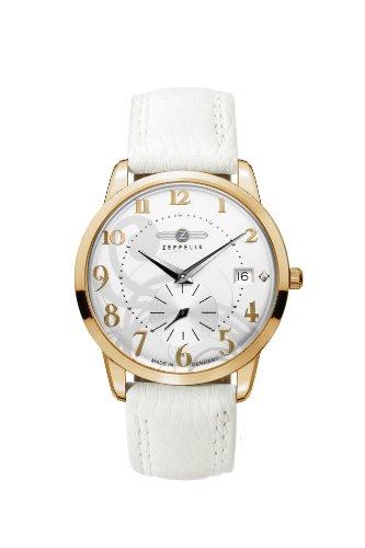 Zeppelin Watches - 73391 - Montre Femme - Quartz Analogique - Bracelet Cuir Blanc