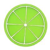 Untersetzer Gläser, OVERMAL Frucht Untersetzer bunte Silikon Schale trinkt Halter Mattgeschirr Tischset (Grün)