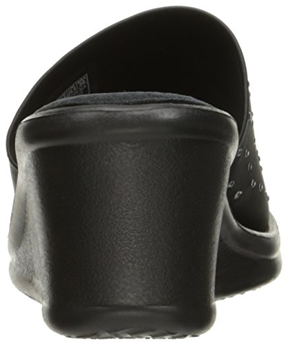 Skechers Cali Womens Rumblers Silky Smooth Wedge Sandal Black