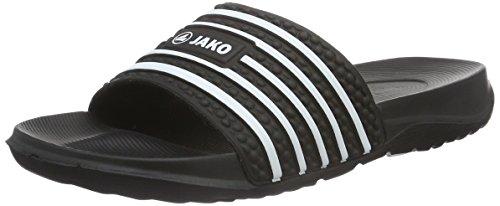 Jako Unisex Badelatschen Jakolette II, schwarz/weiß, 43 EU, 5730 Warehouse Deals Schuhe Frauen