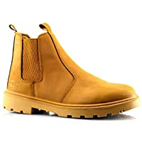 Grafters Mens Leather Safety Steel Chelsea Slip On Dealer Ankle Work Boots Shoes Size 6-14