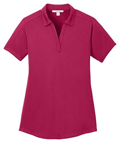 Port Authority Herren Poloshirt Rosa - Dark Fuchsia