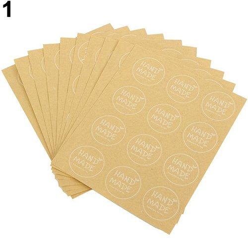 zhouba 120Cupcake Party Geschenk Tüte Boxen Hand Made Craft Seal Aufkleber Etiketten Einheitsgröße Round