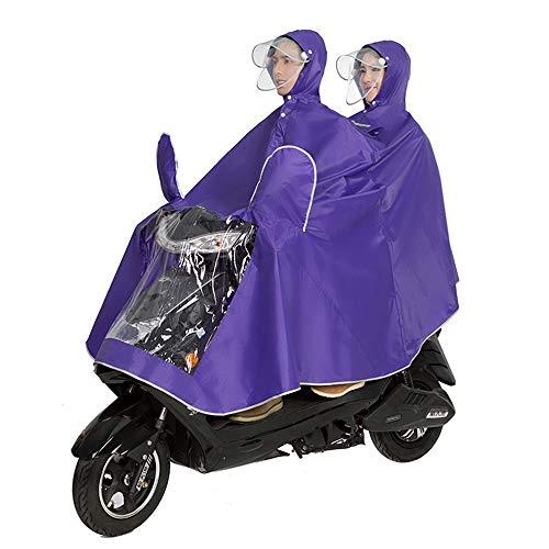 LBYMYB Fahrradjacke Unisex Tandem Fahrrad, Ebike, Motorrad, Roller Poncho Regenmantel Schal Regenmantel (Color : Purple, Size : XXXL)