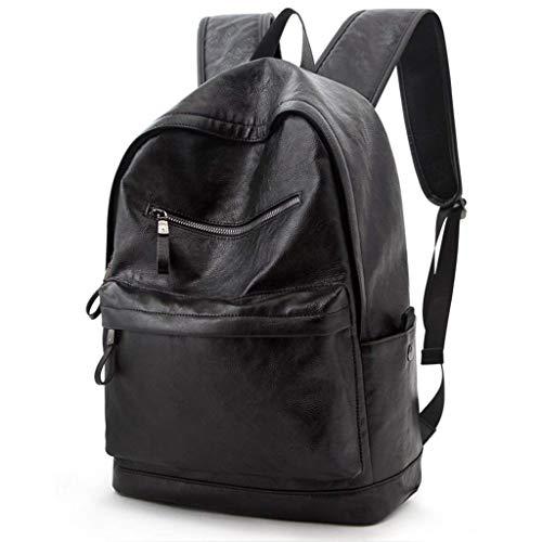 Zmsdt Männer Rucksack Wasserdichte Rucksack Mode PU Leder Reisetasche Lässig Schultasche für Jugendliche