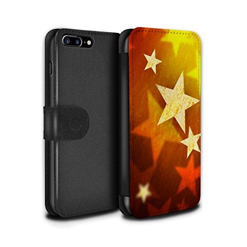 STUFF4 PU-Leder Hülle/Case/Tasche/Cover für Apple iPhone 8 Plus / Pack 9pcs Muster / Weihnachts Dekoration Kollektion Sterne