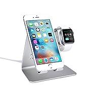Funzionalità: 1). Può essere usato con tutte le versioni di Apple Watch e iPhone/smartphone simultaneamente. 2). Stand portatile che garantisce un perfetto e confortevole angolo di visione, non solo per il vostro Apple Watch, ma funge anche d...