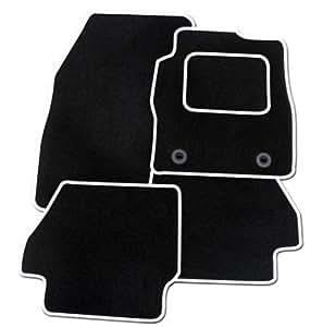 tapis de sol pour voiture noir bordure blanche. Black Bedroom Furniture Sets. Home Design Ideas