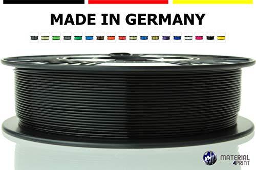 Material 4 Print PLA Filament 1,75 mm 750 g Rolle in Premium-Qualität für 3D Drucker und 3D Stift (Tiefschwarz) - Spule G Stift