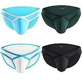Nightaste Calzón Cómodo Ligero para Hombres Ropa Interior para Deporte Calzón Bikini de Cintura Baja (XXL, 4 Colores)