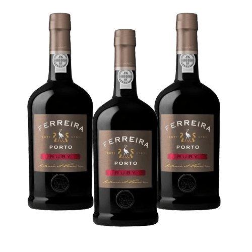 Portwein Ferreira Ruby - Dessertwein- 3 Flaschen