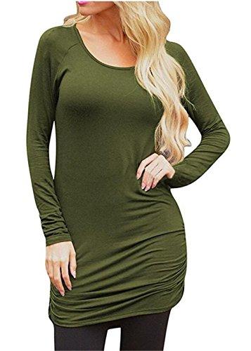 Hamaliel - Robe - Bustier - Femme vert militaire