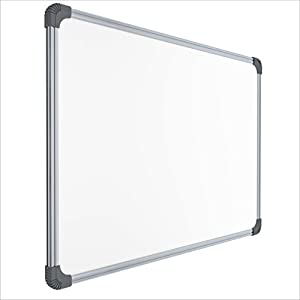 Pragati Systems® Genius Melamine (Non-Magnetic) Whiteboard for Office, Home and School (GWB6090), Lightweight Aluminium Frame, 2×3 Feet (Pack of 1)