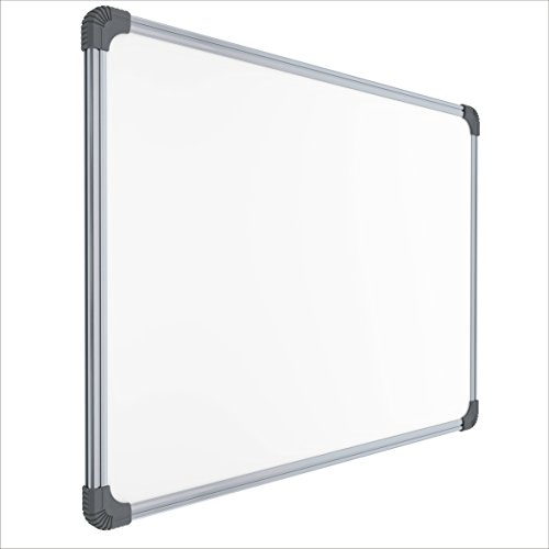 Pragati-Systems-Genius-Whiteboard-for-Home-Office-and-School-Lightweight-Aluminium-Frame-With-Steel-Writing-Surface-Magnetic-15x2-Feet