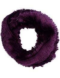 Women's Luxurious Purple Faux Fur Snood Infinity Scarf