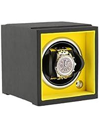 1 Winder de reloj para tamaños de muñeca grandes Sistema de componentes Negro Soft Touch with Yellow Inner by Aevitas