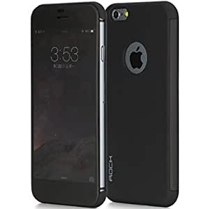 MY CHOICE- Rock Dr.V Smart View Touch Flip Case Cover For Apple iPhone 6 BALCK