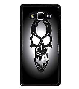 PrintDhaba Skull D-1245 Back Case Cover for SAMSUNG GALAXY E7 (Multi-Coloured)