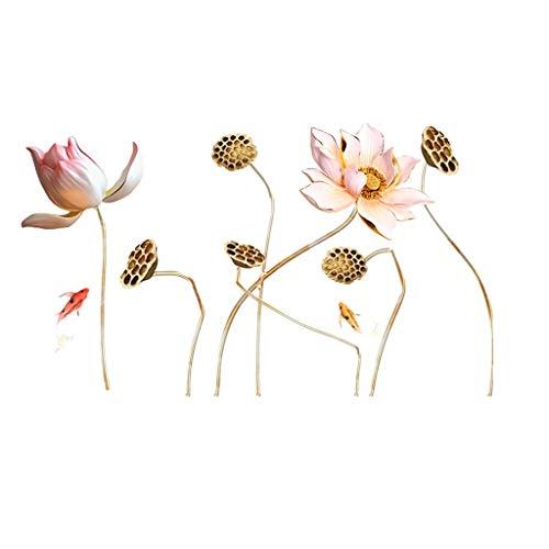 Wandtattoo Wandsticker Blumen Wandsticker Kirschblüte Zweig Pflanzen Baum Ast Aufkleber Wand Deko für Wohn-Schlafzimmer Küche Flur Wandaufkleber Wohnzimmer Schlafzimmer Wanddeko