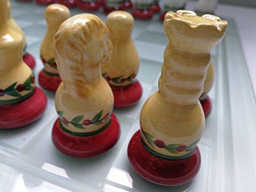 MIC-GmbH-Schachspiel-aus-Keramik-und-Glas-Schach-Brett-Figuren-35-x-35-cm