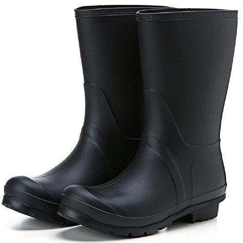 autunno e in inverno Inghilterra Matt Antiscivolo Impermeabile Signora Stivali da pioggia Black