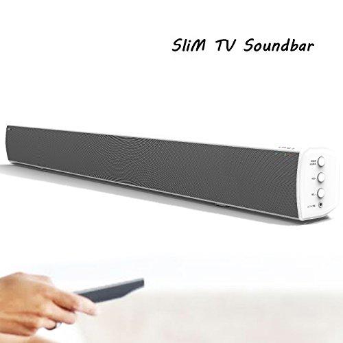 lonpoo 80cm Slim TV altavoz soundbar 20W * 2Bluetooth Barra de sonido cine en casa-Sistema de altavoces con mando a distancia, EU Plug