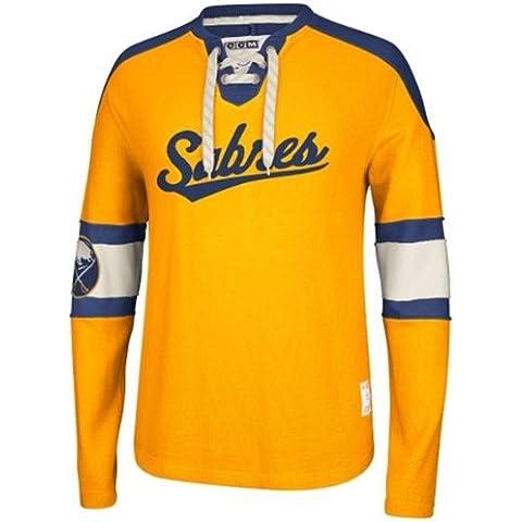 Reebok CCM NHL BUFFALO SABRES Team Classic Crew Jersey Long Sleeve Sweatshirt, Größe:M