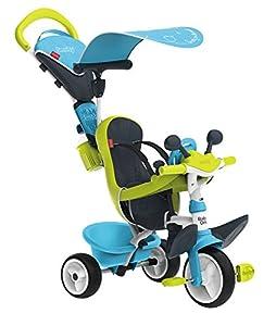 Triciclo Baby Driver Confort azul con cuadro de metal y ruedas silenciosas (Smoby 741200)