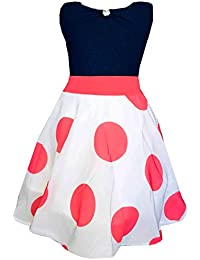 a39dc836c3ba ALL ABOUT PINKS® Rose Polka Dots Party Wear Dresses for Girls Birthday Dress  Baby Girl