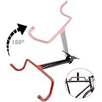 PrimeMatik - Soporte de Pared con Gancho Plegable para Colgar Bicicleta