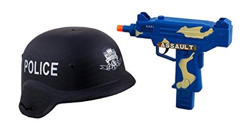 Halloweenia - Kostüm Accessoire Set Police- Mottoparty Polizei Hut und Pistole, Kinder Kopfbedeckung, Mehrfarbig