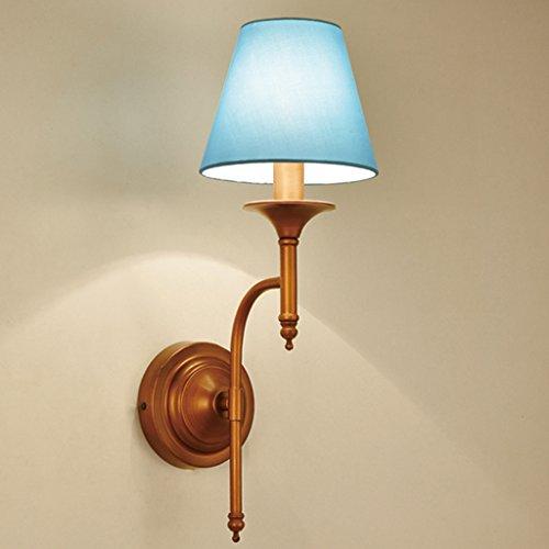 && Perfect & - American Campagne Lampes de chevet Salon Chambre à coucher Restaurant Escalier de l'escalier Creative rétro fer forgé Salle d'étude Nordic Wall Lamp