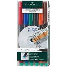 Faber-Castell FABER-CASTELL Permanent-Marker MULTIMARK S, 6er Etui