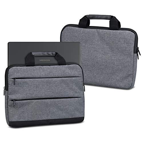 UC-Express Laptop Tasche für Medion Akoya E6246 Notebook Hülle Netbook Schutzhülle Sleeve Universal 15.6 Zoll Schutz Hülle Case Laptophülle Cover Innenmasse 37,5 x 26 x 3 cm, Farbe:dunkel Grau