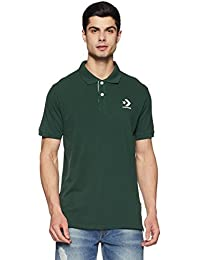 Converse Men's Solid Regular Fit Polo
