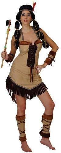 Indian Princess - Adult Costume Lady: L (UK:18-20) (Red Indian Womens Kostüm)
