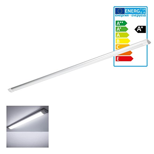 ECD Germany LED Deckenleuchte - 150 cm - 45W - AC 220-240V - 3308 Lumen - Kaltweiß 6000K - IP20 Ultraslim - Bürolampe Büroleuchte -
