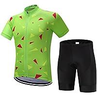 Pantalones de ciclismo Pantalones de montar en bic Verano de los hombres cómodos tela de la bicicleta para hombre 'manga corta transpirable jersey de secado rápido traje de ropa de la bicicleta XXL