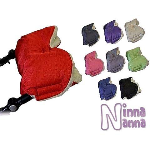 Babys-Dreams Manoplas para empujar carro de bebé, hechas de lana de cordero, calienta tus manos, 12 colores distintos