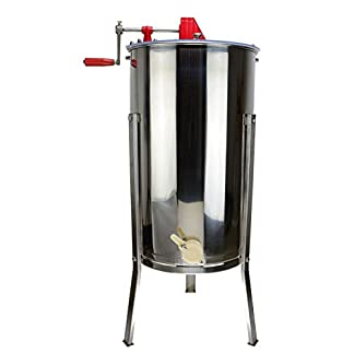 SYAYA Stainless Steel Bee Honey Extractor Honeycomb Drum Manual Beekeeping Equipment (Color One) 20