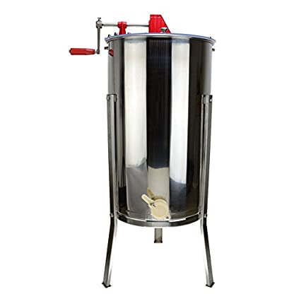 SYAYA Stainless Steel Bee Honey Extractor Honeycomb Drum Manual Beekeeping Equipment (Color One) 1