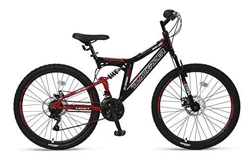 """Altec 26\"""" 26 Zoll Kinder Herren Jugend Fahrrad MTB Kinderfahrrad Mountainbike Bike Rad Vollfederung Fully 21 Gang Shimano Scheibenbremse Black Rider Schwarz Rot"""